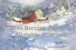 Farm Nestled in Snowy Hills